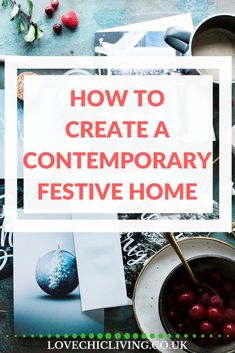 Lots of ideas, tips and inspirations on how to make your home chic, homely and welcoming this Christmas. Focusing on contemporary homes, contemporary styles and a contemporary christmas. Scandinavian Christmas, Christmas Christmas, Christmas Table Settings, Christmas Tables, Contemporary Homes, Uk Homes, Home And Family, Chic, Interior