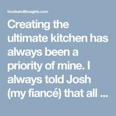 Creating the ultimate kitchen has always been a priority of mine. I always told Josh (my fiancé) that all I wanted in my house was a yellow kitchen! Over the course of the last few years I have carefully built my kitchen ensemble with much planning and consideration. I don't want my cupboards filled with every knick knack possible, I'd much rather have a few key, quality pieces which do a lot for me.
