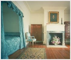 North Square Room « Thomas Jefferson's Monticello Jefferson Monticello, Antebellum Homes, Monticello, Alcove Bed, Home, Interior, Thomas Jefferson Home, Bedroom Design, Southern Homes