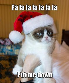 my Santa looks grumpy this year...