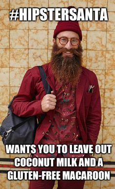 Hipster Santa Jimmy Niggles founder of Beardseason epic beards for Melanoma awareness!