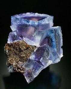 Fluorite on Sphalerite --- Minerva No.1 Mine, Cave-in-Rock, Hardin County, Illinois