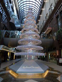 White Christmas tree at Osaka, Japan