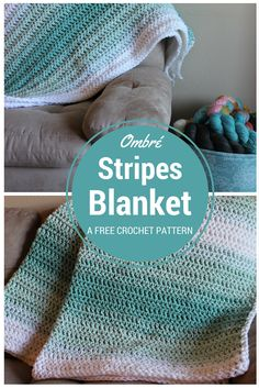 Ombré Stripes Blanket - Free Crochet Pattern