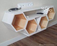 Tv Unit Furniture, Home Decor Furniture, Furniture Projects, Diy Home Decor, Furniture Design, Art Projects, Wooden Shelf Design, Wall Shelves Design, Wooden Shelves