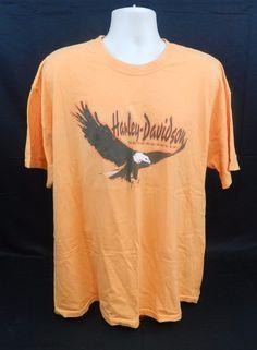 Harley Davidson Orange Biker Bobs Motown Taylor, MI Tee Shirt XXL??     Stk#A18 #HarleyDavidson #CrewNeck