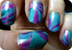 SO far from perfection: my first decent Water Marble attempt