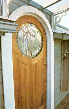 stained glass window - door