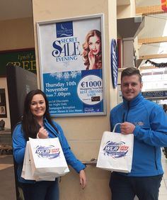 @tforteresanne and The Street Team are at #DungarvanShoppingCentre in preparation for their Secret Sale Evening tonight! #Dungarvan #WLRFM #waterford