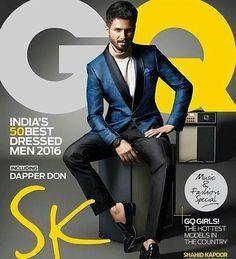 Shahid Kapoor -- GQ - India's 50 Best Dressed Men