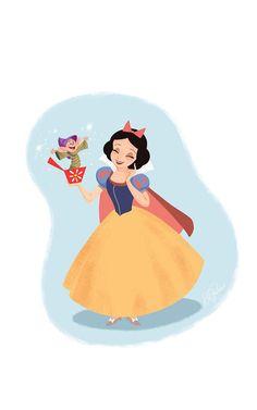 Schneewittchen und Dopey Jack-in-the-Box - Things that My Girls like - Film Disney, Disney Nerd, Disney Fan Art, Disney Love, Disney Magic, Snow White Art, Snow White Disney, Snow White Cartoon, Snow White Drawing