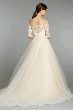 Ball Gown Wedding Dresses   Picture Description tara keely fall 2013  sherbet wedding dress ball gown style 2358 sweetheart lace off shoulder  three quarter 08bb2cf8d740