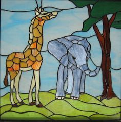 Stained Glass Elephant Patterns images