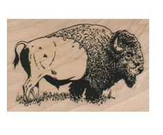 New to pinkflamingo61 on Etsy: Rubber stamp buffalo bison  animal stamping supplies    scrapbooking supplies 10530 (6.00 USD)