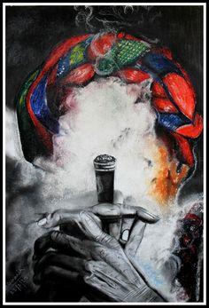 Natasha_Pramanik - Sadhu - Soft pastels + charcoal