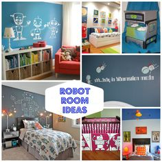 Robot Room Ideas! What a clever idea! Love these ideas for a little tikes room that will make their imagination go wild! Check out all the ideas on Designdazzle.com