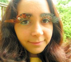 Fire and Ice Feather Eyelash Jewelry, Etsy.