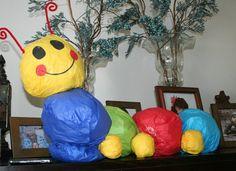Baby Einstein caterpillar made of tissue Baby Boy Birthday, 1st Birthday Parties, Birthday Ideas, Baby Einstein Party, Little Einsteins Party, First Birthdays, Bean Bag Chair, Projects To Try, Caterpillar