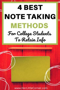 4 best note taking methods and tips for college students. These strategies include cornell method, charting method, outline method, and the mapping method. #notetakingstrategies #notetakingtechniques Note Taking Strategies, Note Taking Tips, School Organization Notes, Study Organization, College Notes, School Notes, Good Study Habits, Study Schedule, Study Methods