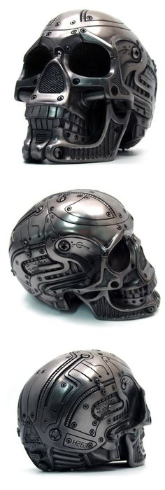 Cyborg metallic skull. Was sold a few years ago on a Korean website.                                                                                                                                                                                 More