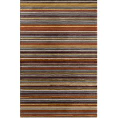 @Overstock.com - Allie Handmade Stripes Wool Rug (5' x 7'6) - Add a fresh look to your home decor with this Allie rug. Hand-tufted in India using fine quality wool and features stripes design in shades of blue, gold, grey, burgundy and brown.  http://www.overstock.com/Home-Garden/Allie-Handmade-Stripes-Wool-Rug-5-x-76/7578537/product.html?CID=214117 $188.99
