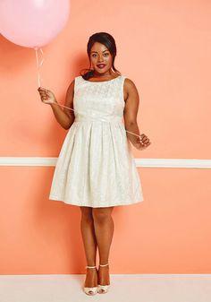 Thoughtful Nostalgia Plus Size A-Line Dress