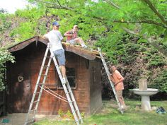 Repairing the roof of the writing chalet Writing, Being A Writer