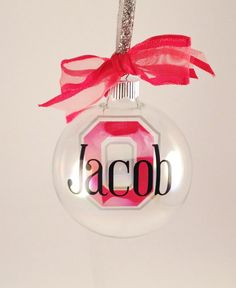 Ohio State personalized ornament by #delightdesignsvinyl on #etsy