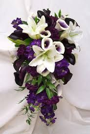 purple wedding flowers in basket - Google Search