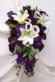 purple wedding flowers in basket - Google Search