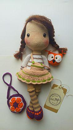 Amigurumi crochet doll with Owl
