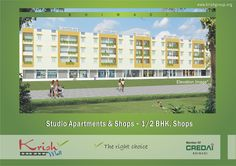 """Pearl space in 13 lacs only with effective area 355 Sq .There are many different sizes are available in Krish Mall""""It Makes A Business Sense!"""".Krish Mall offers showroom, food court, restaurant, shops, studio apartment etc. It provides ample open space, adequate parking space, power backup, ample water supply and other modern amenities."""