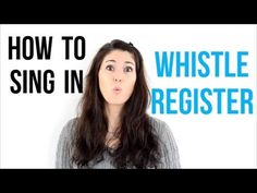 Great tutorial to help you find out how to sing in whisle register.