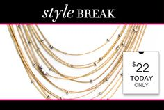 STYLE BREAK! Get the Jordan Gold Necklace for $22.