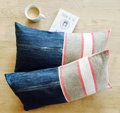 A personal favourite from my Etsy shop https://www.etsy.com/listing/542201170/recycled-denim-linen-cushion-cover
