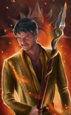 "Retrato ""Red Viper"" en homenaje a Oberyn Martell y al capítulo 4x08 de JdT ""the mountain and the viper"" / Portrait ""Red Viper"", my tribute to Oberyn Martell and Got 4x08, ""The mountain and the viper"""