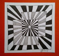 Op Art - I like how they created a mid-tone with line. Op Art, Op Art Projects, Optical Illusions Art, Art, Art Movement