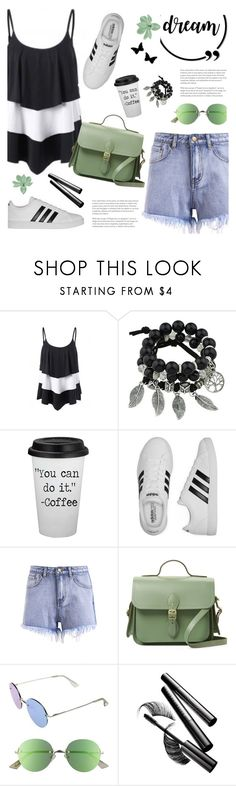 """Dream"" by tamara-p ❤ liked on Polyvore featuring adidas, The Cambridge Satchel Company, Le Specs, Chantecaille, GREEN, dream and springfashion"
