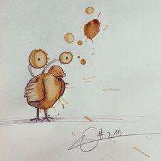 Quand des tâches de café deviennent de l'art