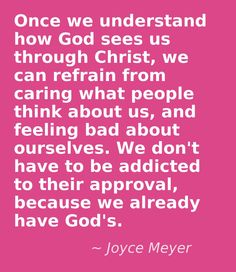 Some of Joyce Meyer's doctrinal beliefs area bit skewed, but I absolutely love this.  And if our God is for us, then what could stand against?