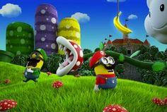Luigi and Mario Minions - Super Mario Bros. Amor Minions, Cute Minions, Minions Despicable Me, Minions Quotes, Minions 2014, Minion Stuff, Shrek, Minion Dress Up, Geeks