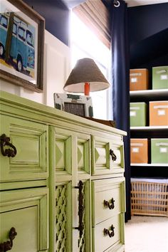 The Yellow Cape Cod: Room Makeovers. Great color for an old dresser. MLR