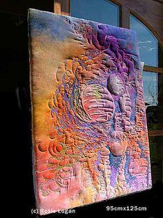 Textile art Rosie Logan