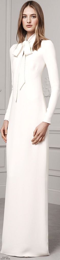 Ralph Lauren Pre-Fall 2016 white maxi women fashion outfit clothing style apparel @roressclothes closet ideas
