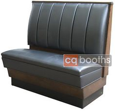 Classic Wood Restaurant Booth Furniture with Channel Back