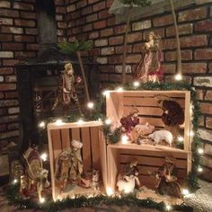 Login - Nativity Diy How to Make Christmas Cave, Noel Christmas, Rustic Christmas, Christmas Crafts, Christmas Presents, Christmas Village Display, Christmas Nativity Scene, Christmas Villages, Silver Christmas Decorations