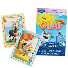 Disney Frozen Jumbo Movie Playing Cards - Olaf @ niftywarehouse.com #NiftyWarehouse #Frozen #FrozenMovie #Animated #Movies #Kids