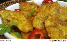 Kuřecí bramboráčky Pumpkin Fritters, Clean Recipes, 3 Ingredients, Tandoori Chicken, Finger Foods, Cauliflower, Fries, Food And Drink, Appetizers