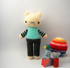 boy toy children teddy bear crochet amigurumi plushie .. little brock .. toy. $30.00, via Etsy.