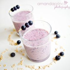 dairy free blueberry oatmeal smoothie